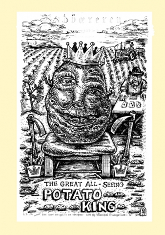 Potato King screen print