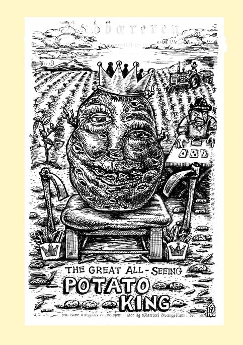 Potato King screen print