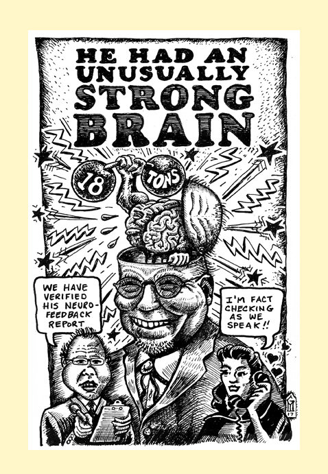 Strong Brain screen print