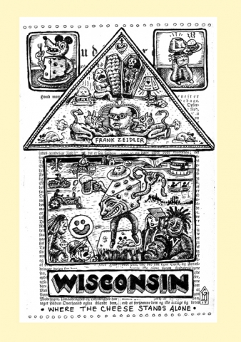 Wisconsin screen print